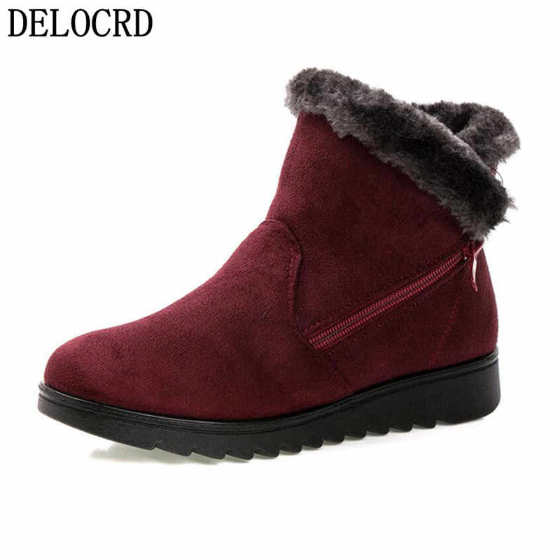 2018Women Winter Shoes Women's ankle Boots The New 3 Color Casual Fashion Flat  Warm Woman Snow Boots Brand Women's Cotton Shoes