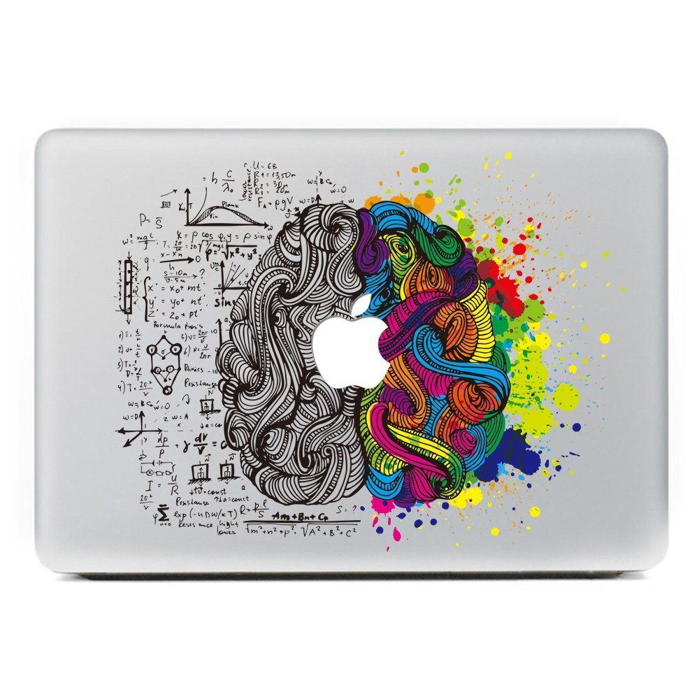 best service dd37b 25140 US $9.8  Left and Right Brain Sticker for Apple decals Macbook Pro 13