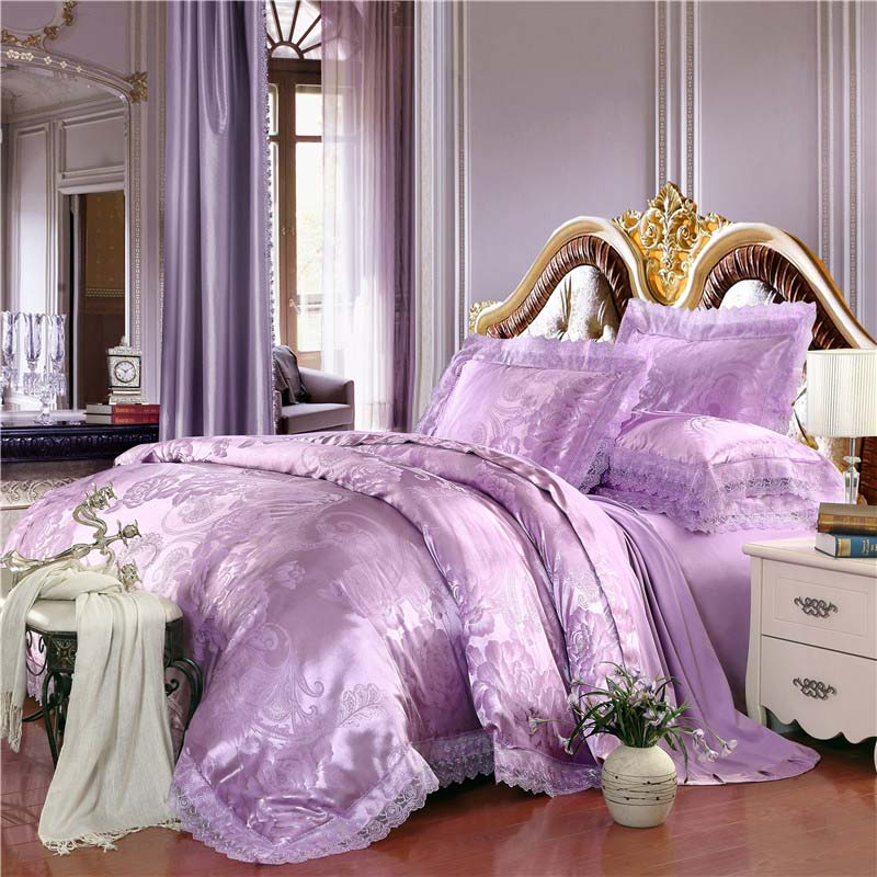 Luxury Tribute Tencel Silk Jacquard Cotton Purple Lilac