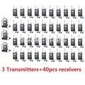 Takstar WTG-500 UHF Беспроводная Система Гид 3 Передатчик + 40 Приемники для Туристического гида/синхронный перевод, WTG500