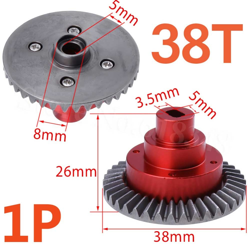 Metal Aluminum Alloy Connect Box w/Gear 38T 180009 (18009) HSP Pangolin 94180 Upgrade Parts For 1/10 4WD RC Crawler Models Car hsp 02024 differential diff gear complete 38t for 1 10 rc model car spare parts fit buggy monster