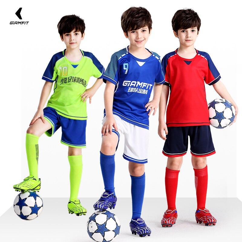 faefb796623 Custom Soccer Jersey Camisas De Futebol 2019 Jersey Kids Short Sleeves  Football Shirts Team Training Uniform Sets DIY Kits 4XS M-in Soccer Sets  from Sports ...