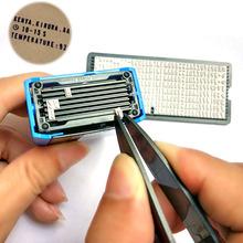 Zestaw pieczątek DIY spersonalizowany spersonalizowany samoprzylepny adres firmy nazwa rękodzieła akcesoria Stamper tanie tanio Printing Stamp Samobarwiących stamp Plastic Biuro Rubber Type Plate+Printing Stamp+Stamp Pad+Tweezers artisanat mit artesania artesanato