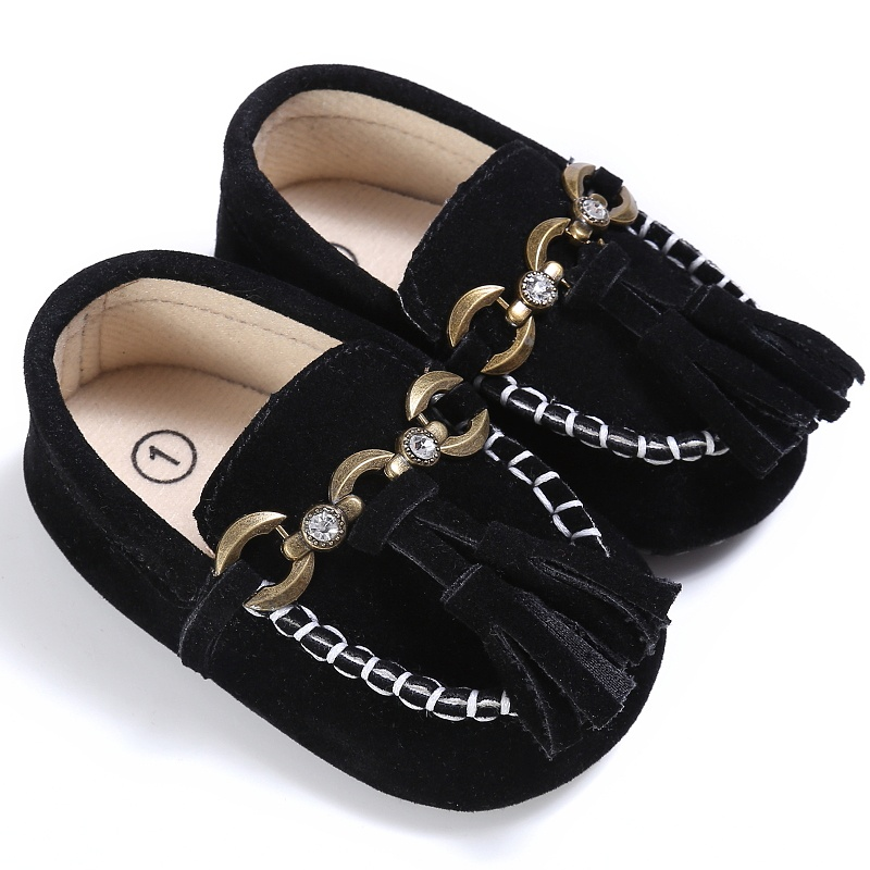 Anti-slip Boat Style baby moccasins infant PU Suede Leather first walker soft soled Newborn 0-18M Baby shoes