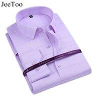 JeeToo Brand Men Shirts 2017 White Mens Dress Shirts Long Sleeve Slim Fit Formal Business Male