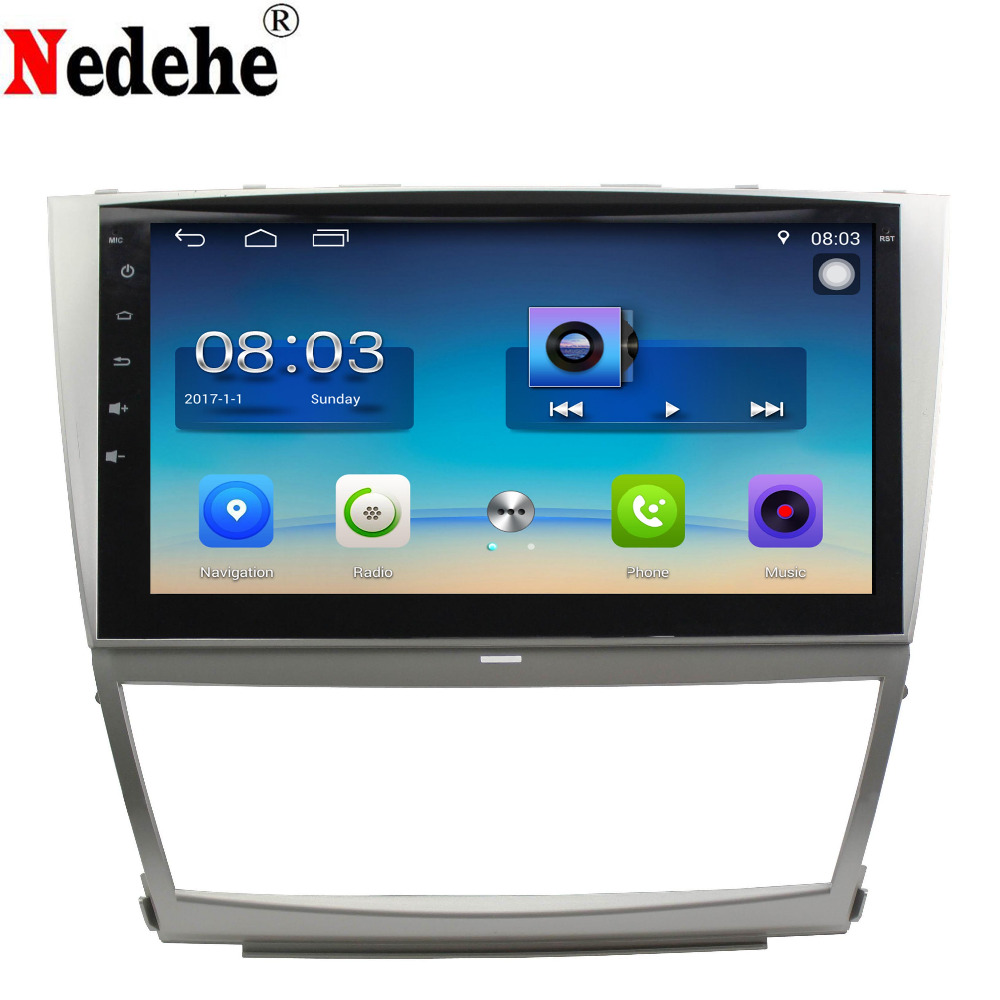 Nedehe 10.1 inch 2G+32G Android 7.0 Car DVD GPS Navigation For Toyota Camry 2006 2007 2008 2009 2010 2011 car radio audio player