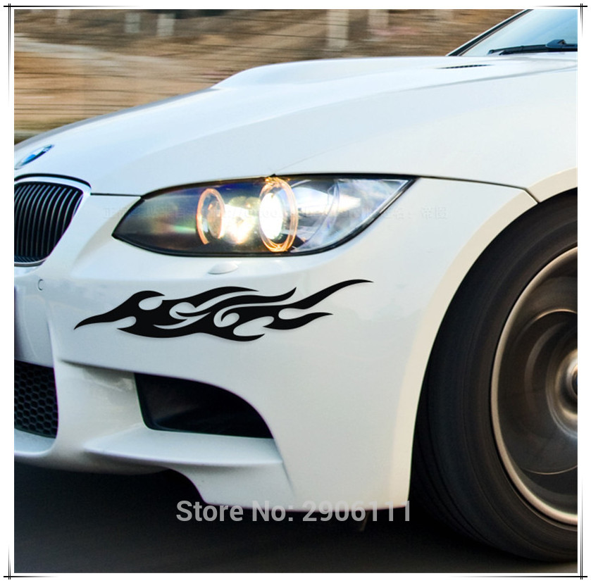 Universal Car Sticker Styling Motorcycle Decal Accessories Auto Flame Fire for Ford mondeo kuga fiesta Focus2 3 ecosport fusion
