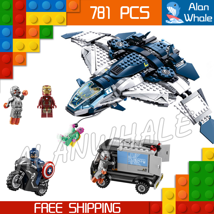 781pcs Super heroes Avengers Quinjet City Chase Captain America sy359 Figure Building Blocks Toys  Compatible With LegoING-in Blocks from Toys & Hobbies