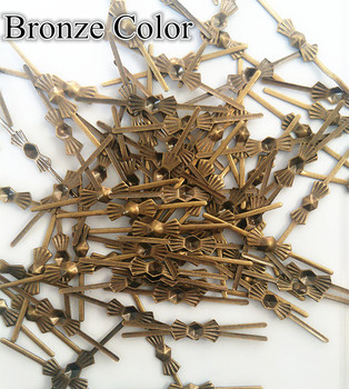 10000pcs/Lot  33mm Bronze Color Copper Bowtie Connectors Butterfly Metals For Beads DIY Free Shipping