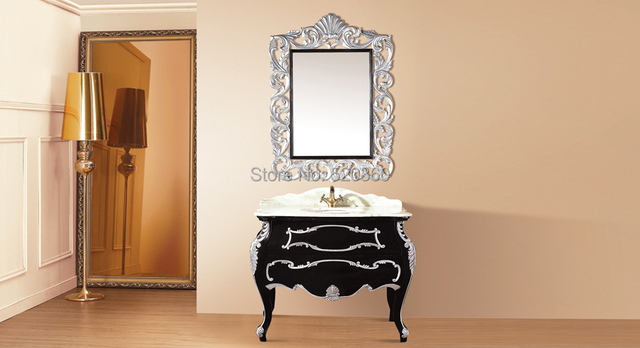 Spiegel Hoekkast Badkamer : Zwart leaf verf zilveren eiken kleur jade marmer kast en spiegel
