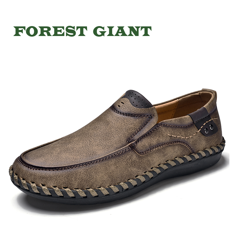 FOREST GIANT New Comfortable Men Casual Shoes Loafers Male Shoes Quality Slip-On Shoes Men Flats Hot Sale Moccasins Shoes 8807