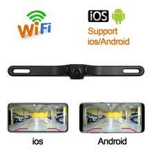 CROSSSUNAI HD DVR Wireless Wifi US Car License Plate Frame Camera Backup Parking Reverse Rear View Camera Vehicle Security