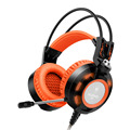 Sound intone k6 headset gaming profissional com microfone led glowing luz estéreo auriculares fones de ouvido de jogos para computador
