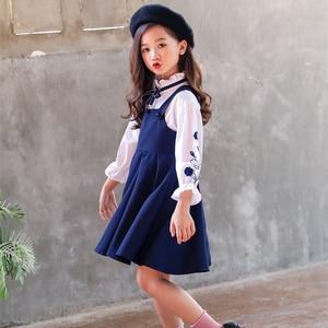 Image 3 - בנות בגדי סט רקמת חולצה + שמלת 2 Pcs חליפת סתיו עבור בנות מקרית ילדים של סט חורף Teen בנות בגדי 4 6 8 12