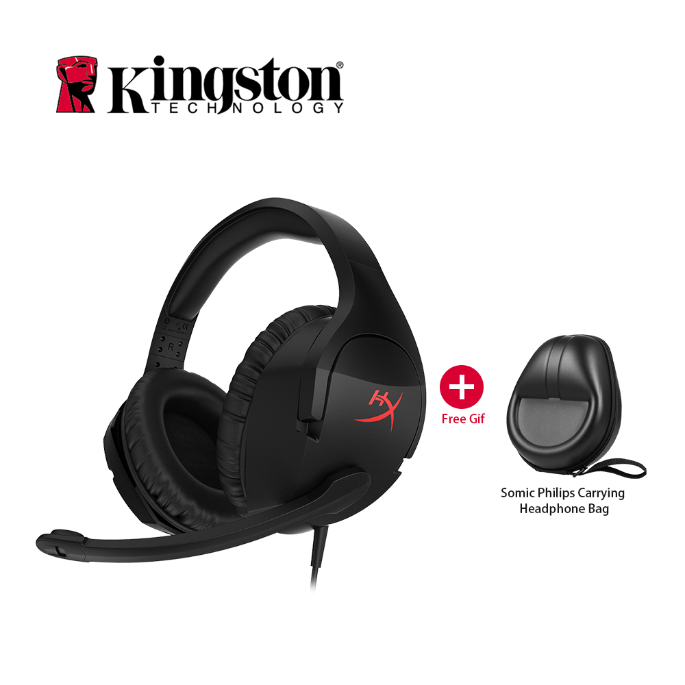 Kingston HyperX Cuffia Nube Stinger Cuffie con Microfono Gaming Headset Sport Auricolare Stereo Headset Over Ear per PC