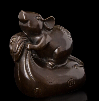 Copper decoration Fine Buddha Brass Lucky Craft Antique Bronze Figurines of the Chinese Zodiac Mouse Fengshui Art Materials PetCopper decoration Fine Buddha Brass Lucky Craft Antique Bronze Figurines of the Chinese Zodiac Mouse Fengshui Art Materials Pet