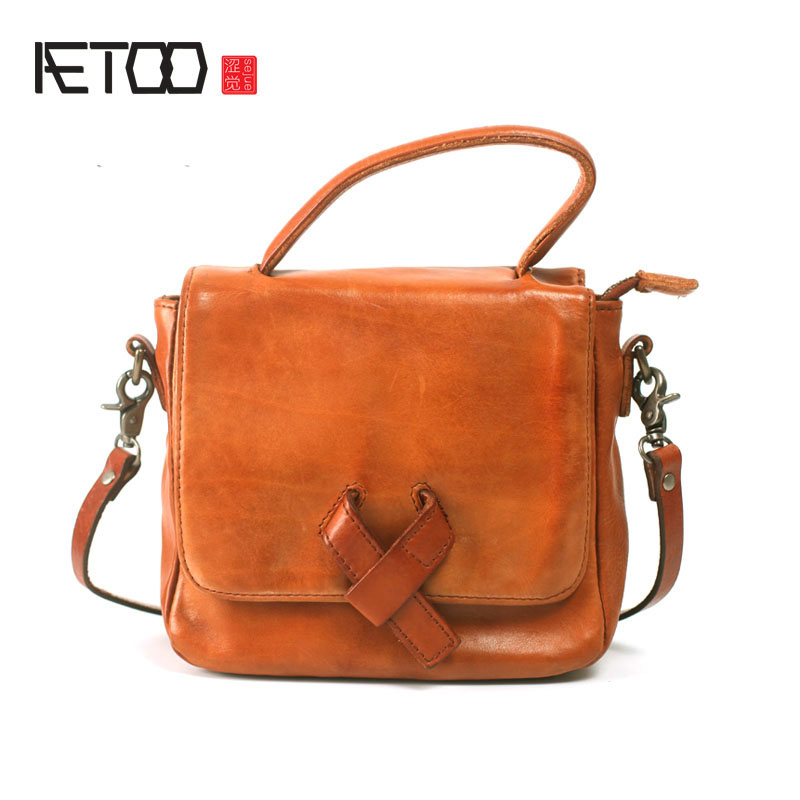 AETOO Retro art small square package Sen Department of small bag mini handbag handmade leather handbags leather leather shoulder