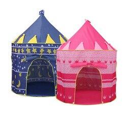 Brinquedos tenda crianças rastejando portátil dobrável tipi princesa príncipe castelo indoor ao ar livre brinquedos piscina para o oceano bola jogo casa