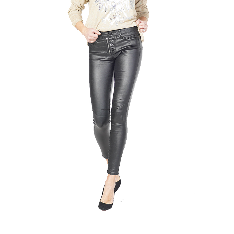 My Will Jeans Ladies Black Cropped Trousers Jeans 6569 Made In China