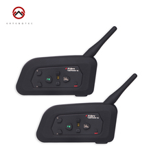Motorcycle Bluetooth Intercom Interphone V4-1200 2PCS  Waterproof FM Radio Support 4 Riders Talking 150 Hours Standby Time