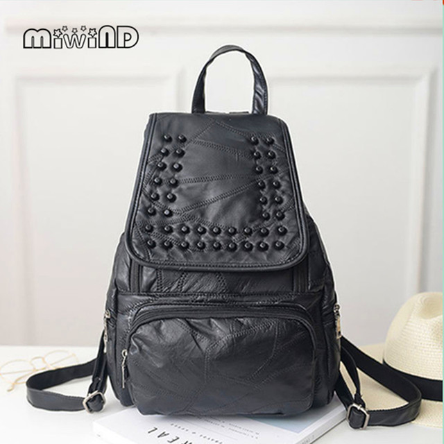 Kpop Limited Mochilas Women Backpack 2017 New Leather Trend Bag Backpack  All-match Wholesale Retail 418c6343c2e4b