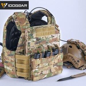 Image 5 - IDOGEAR Bolsa de Triple revista, 5,56 Mag, bolsa abierta superior, Airsoft, equipo militar, juego de guerra, bolsas tácticas para revistas, 3526
