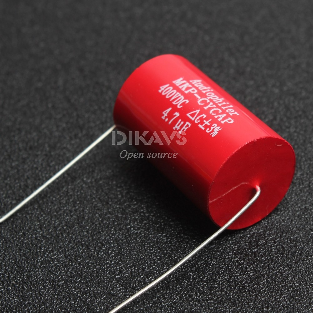 1Pcs Audiophiler Axial MKP 4.7uF 400v DC HIFI DIY Audio Grade Capacitor for Tube Guitar Amps ...