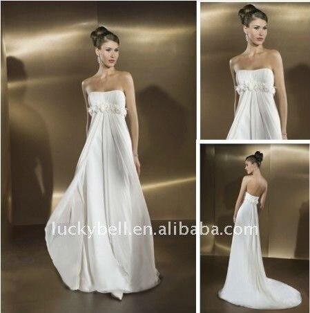Distributor Hot sale Sexy A-Line Sleeveless Feather Wedding dress