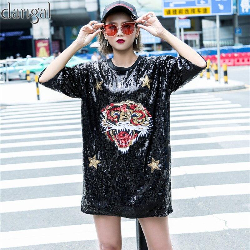 Animales lentejuelas camiseta 2018 moda hip hop Bling t-shirt calle camiseta  fresca para danza fe282e12acf