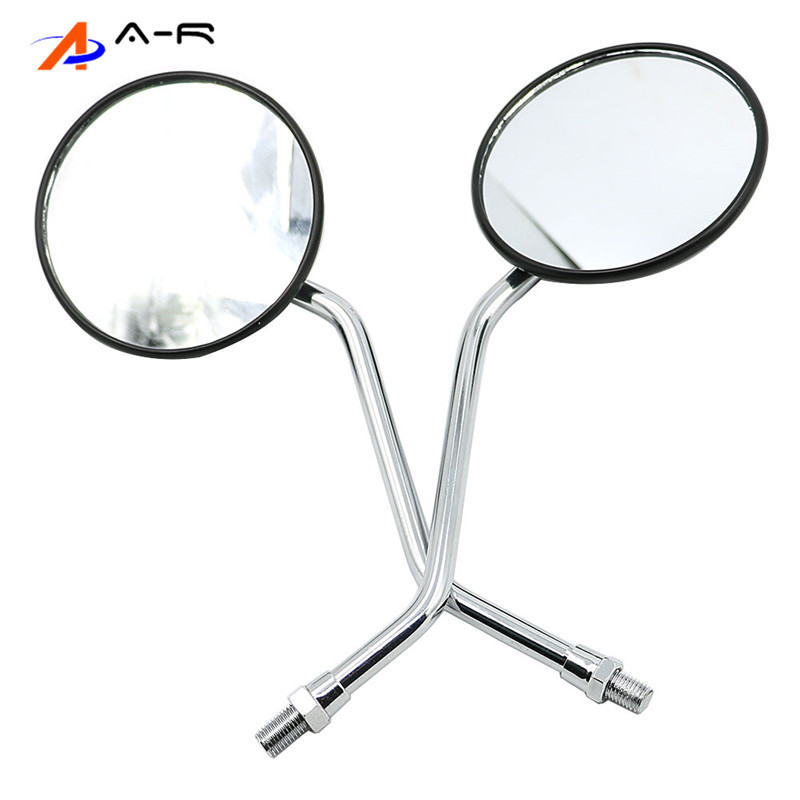 10mm Rearview Back Mirrors PAIR Rear View Mirror for Yamaha <font><b>DT</b></font> RD RS XS 100 125 175 200 250 350 360 400 <font><b>500</b></font> DT100 DT125 DT175 image