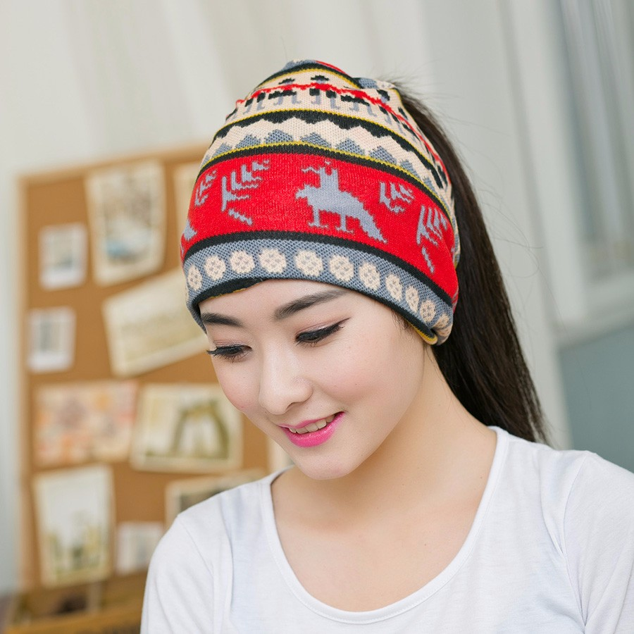 Spring Fashion New Knit Baggy Beanie Hat With Flower Female Warm Winter Hats For Girls Women Beanies Bonnet Head Cap Gorros XHXL цены онлайн
