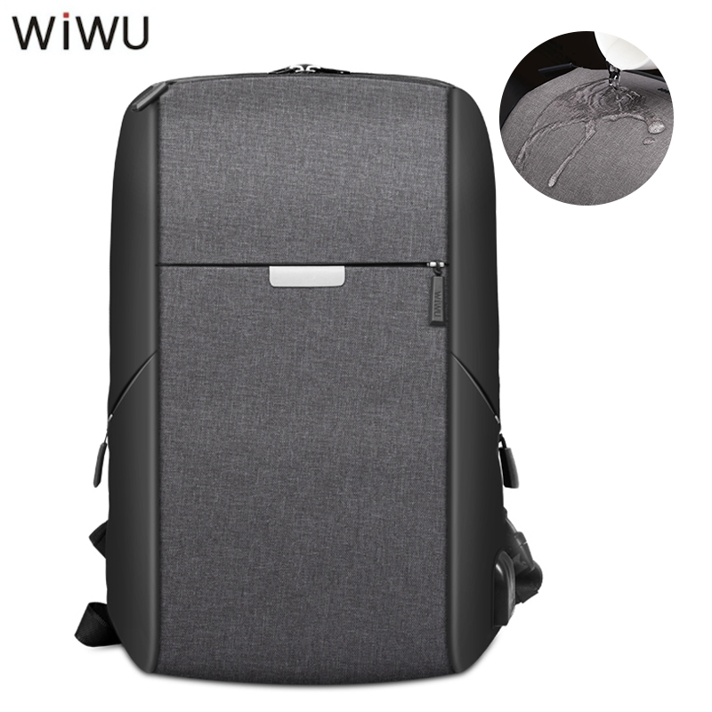 WIWU Multifunction USB Charging Men Women 15 Laptop Backpacks Large Capacity Casual Waterproof Bags For Student School Travel ...