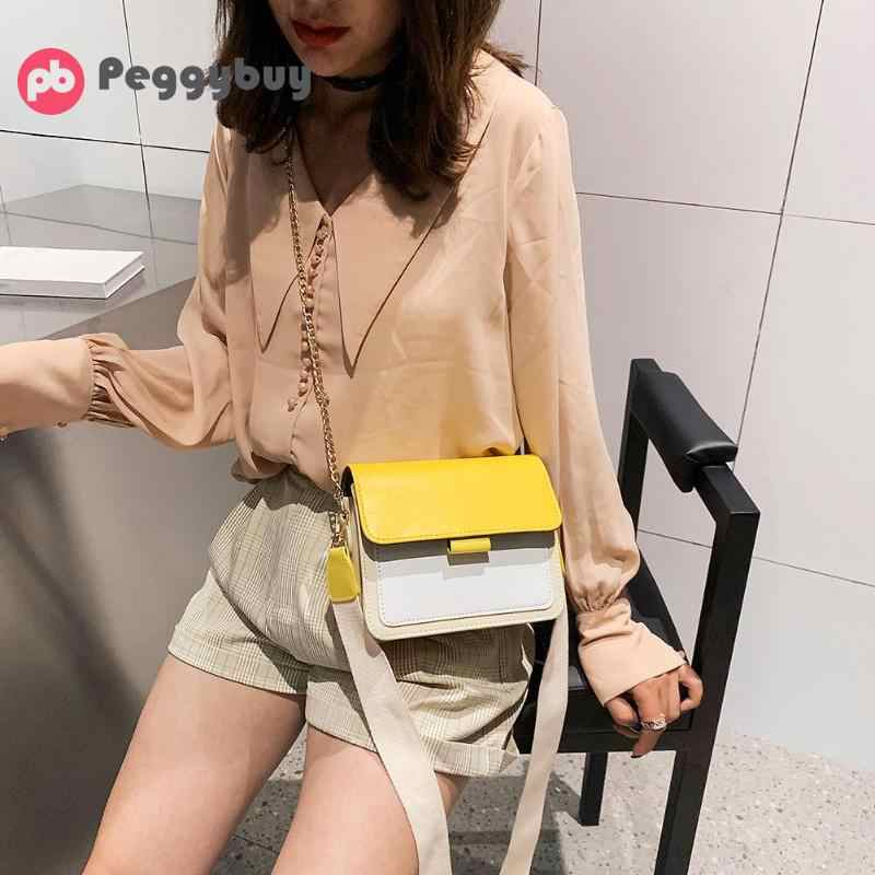 Hot Mini Leather Crossbody Bags For Women Green Chain Shoulder Messenger Bag Lady Travel Purses and Handbags  bolso mujer