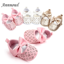 New Fashion Baby Girl Shoes for 1 Year Old Soft Sole Walkers Infant Pink Toddler Christian Gift Mary Jane Flats with Bows