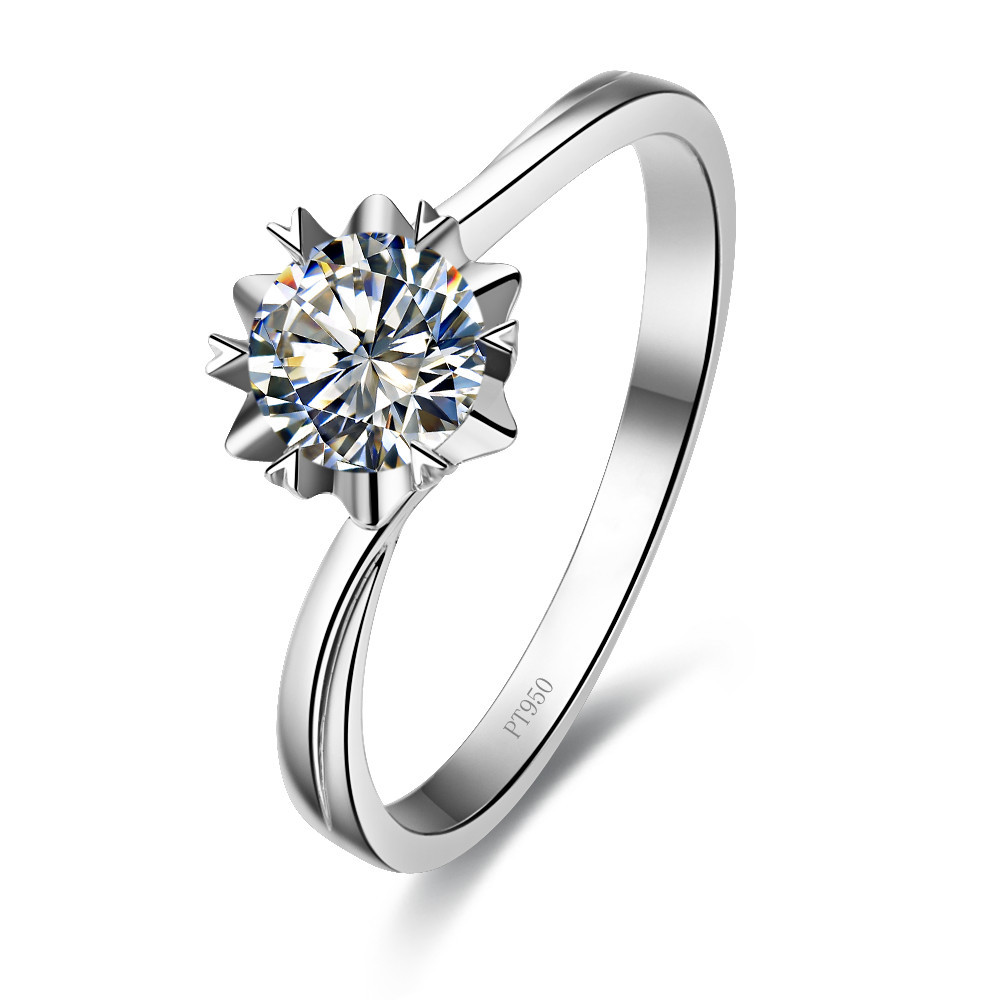 1 carat snowflake style a ok sona nscd synthetic diamonds wedding ring sterling silver girl - Sterling Silver Diamond Wedding Rings