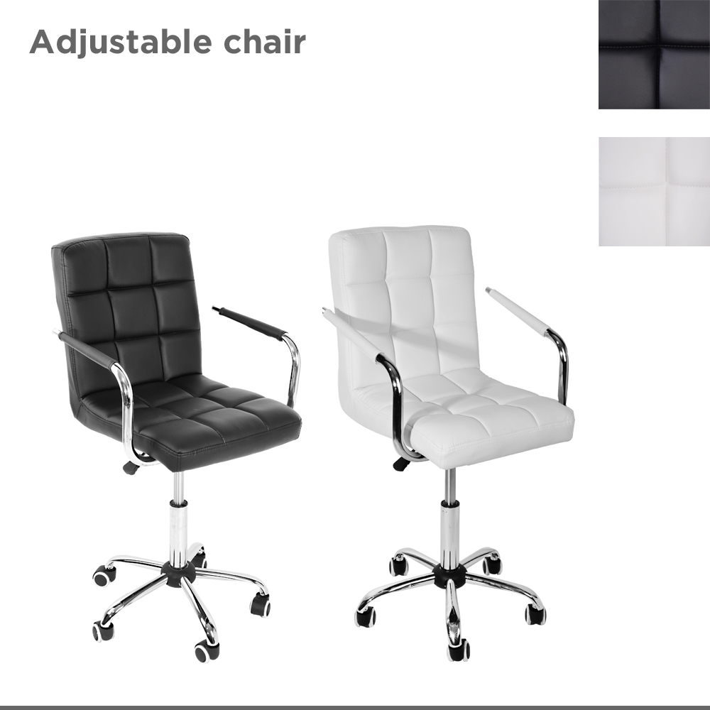 Plaid Gas Lift Swivel Office Chair PU Computer Chairs Office Furniture HOT SALE racing chair gas lift swivel gaming chair tilt degree adjustable computer chair caster base hot sale