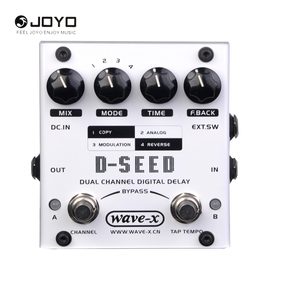 JOYO D-SEED Dual Channel Digital Delay Guitar Effect Pedal Guitarra Stompbox True Bypass joyo jf 304 new product time magic delay mini smart effect pedal analog sounding digital delay 600ms ture bypass free shipping