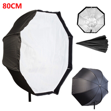 Photograph Studio 80cm/31.5″ Octagon Umbrella Softbox Diffuser Reflector for Speedlite Flash Images Mushy Field Gentle Field