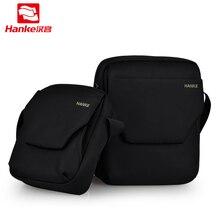 2018 Новый Ханке сумка Для мужчин Высокое качество нейлон Водонепроницаемый Сумки на плечо Бизнес путешествия Для мужчин; сумка через плечо черный