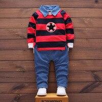 Newborn Baby Clothes Gentleman Baby Boy Striped Shirt Stripe Overalls Fashion Baby Boy Clothes