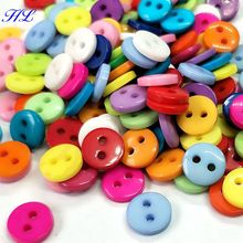 200pcs wholesale 8mm candy color plastic buttons kids apparel sewing accessories DIY crafts A011