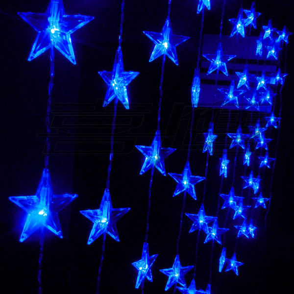 100% new lights entranceway curtains entranceway anode-screening crystal bead curtain christmas lighting string 60 five-pointed