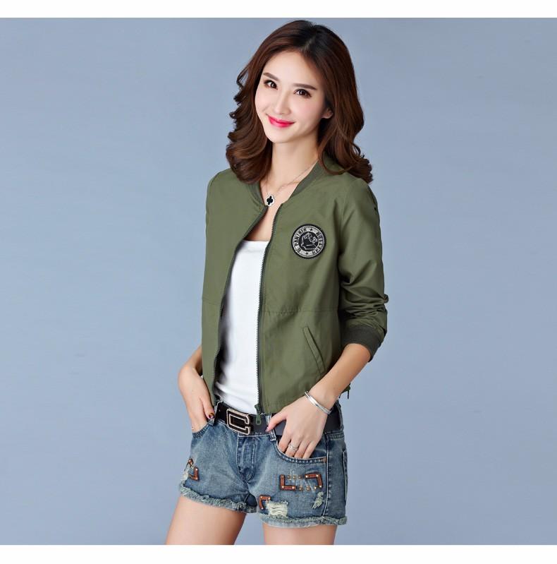 7 Colors Spring Summer Jacket Women Leisure Loose Plus Size Coat O Neck Long Sleeve Autumn Sport Jackets Casaco Feminino 2016 A8 G