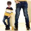 2015 Nueva Primavera Otoño Ropa de Los Niños del Bebé de Los Muchachos Pantalones Vaqueros Pantalones Niños Pantalones Versión Coreana Al Por Menor 3-12Years Viejo Envío Libre