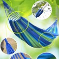 High Quality Portable Nylon Fabric Outdoor Garden Hammock Hang BED Travel Camping Swing Canvas Stripe