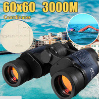 60x60 Binoculars With Night Vision High Powered High Definition Green Film wide professional binoculars high definition 5.29