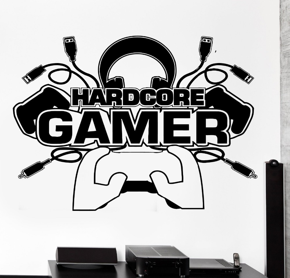 Buy creative gamer wall decal gamer for Decoration maison aliexpress