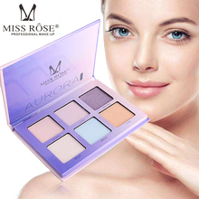 MISS ROSE 6 color Face highlighter white concealer cheeks enhance profile makeup box beauty