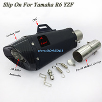YZF R6 Motorcycle Exhaust Modified Middle Link Pipe Exhaust Escape Muffler For YAMAHA R6 YZF 2006 07 08 09 10 11 12 13 14 15 16