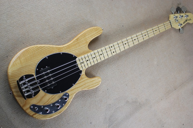 Top Quality Ash wood Body + Maple Fretboard Music Man Ernie Ball Sting Ray 4 String Burlywood Electric Bass Guitar 15 6 25